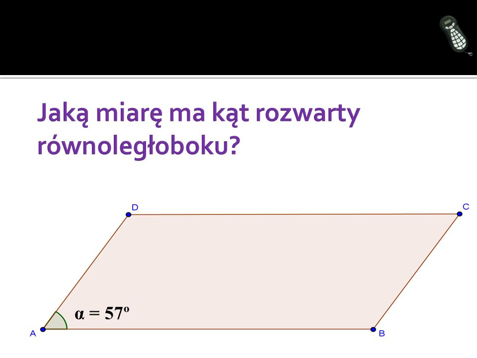 Jaką miarę ma kąt rozwarty równoległoboku
