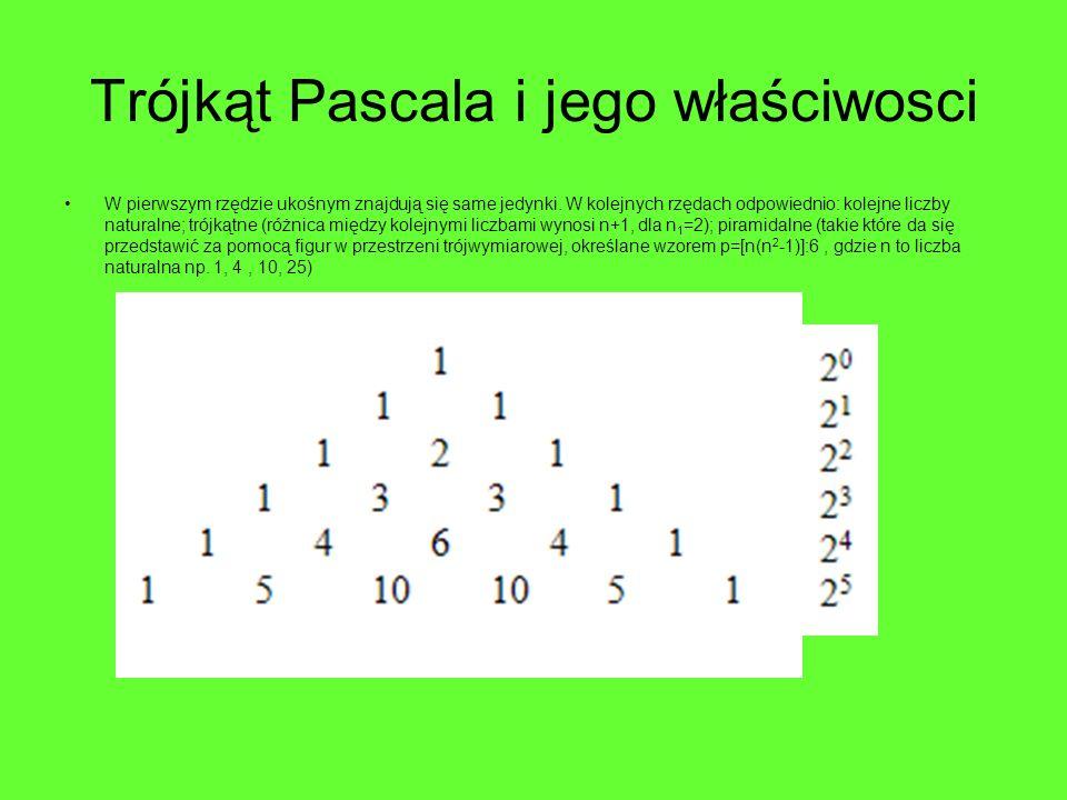 Trójkąt Pascala i jego właściwosci