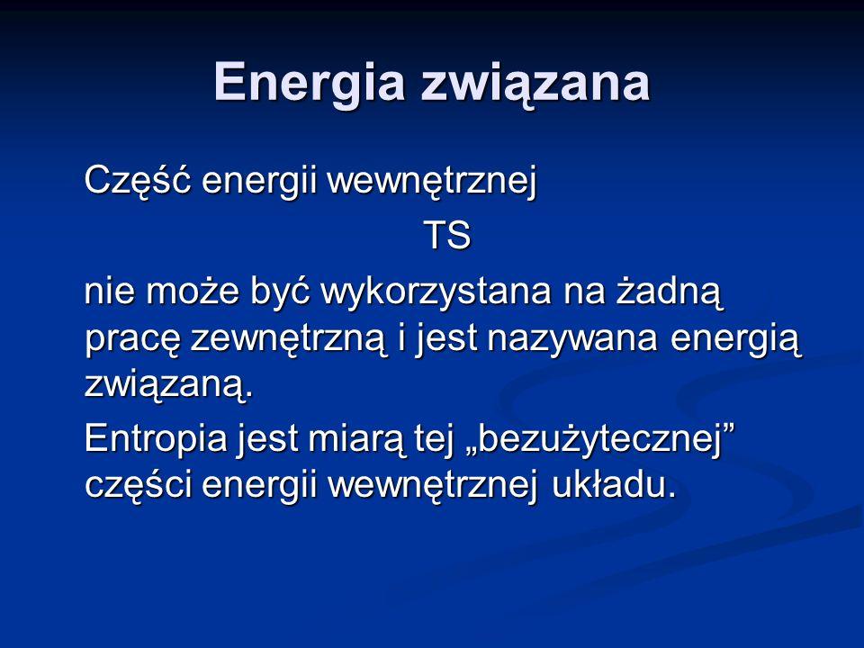 Energia związana Część energii wewnętrznej TS