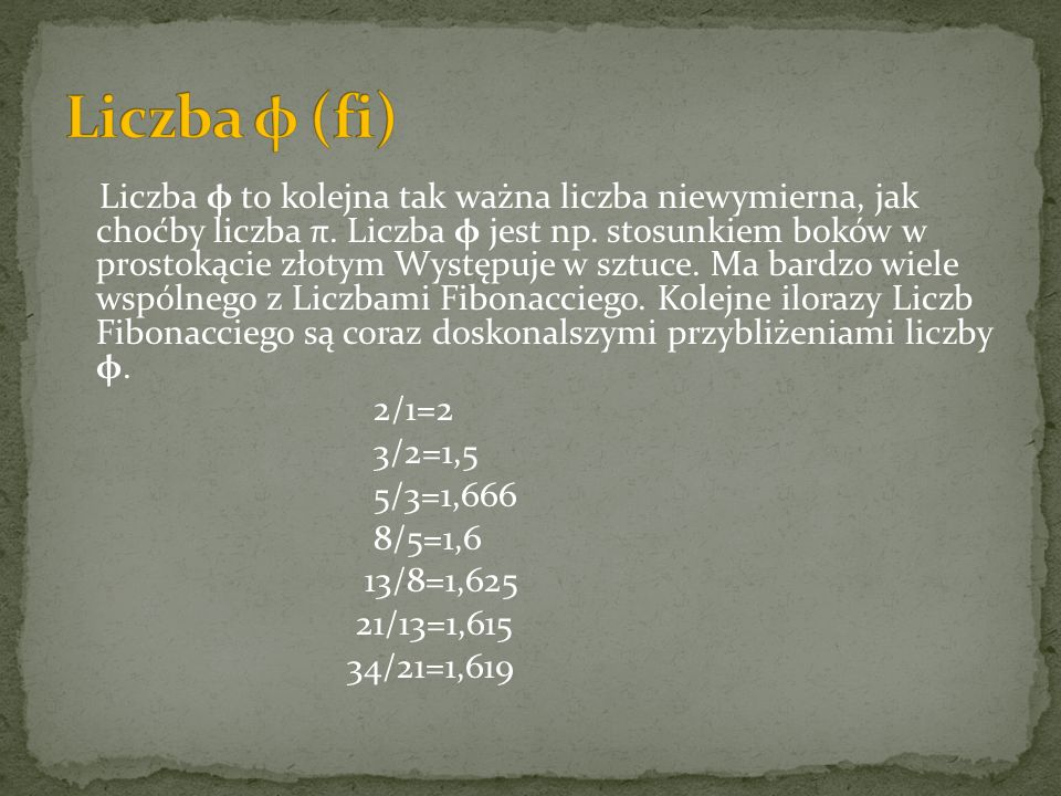 Liczba φ (fi)