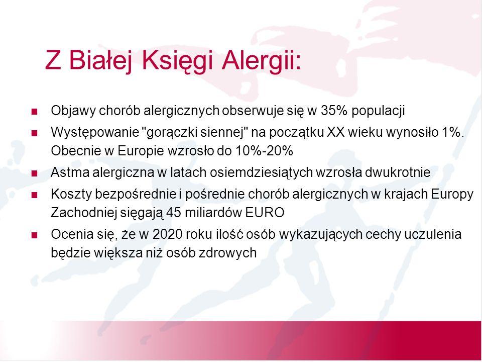 Z Białej Księgi Alergii: