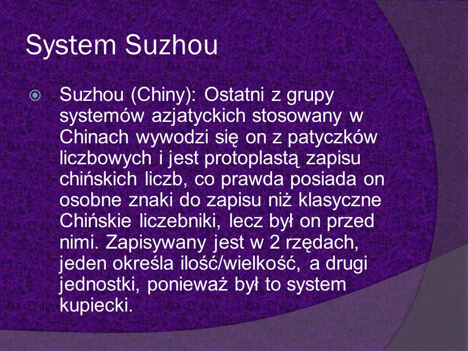 System Suzhou