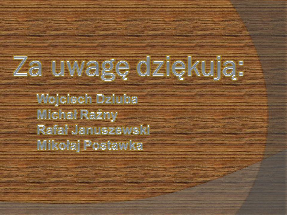 Za uwagę dziękują: Wojciech Dziuba Michał Raźny Rafał Januszewski