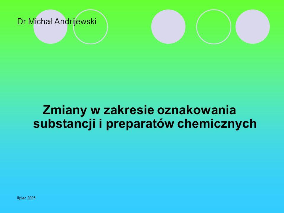 Zmiany w zakresie oznakowania substancji i preparatów chemicznych