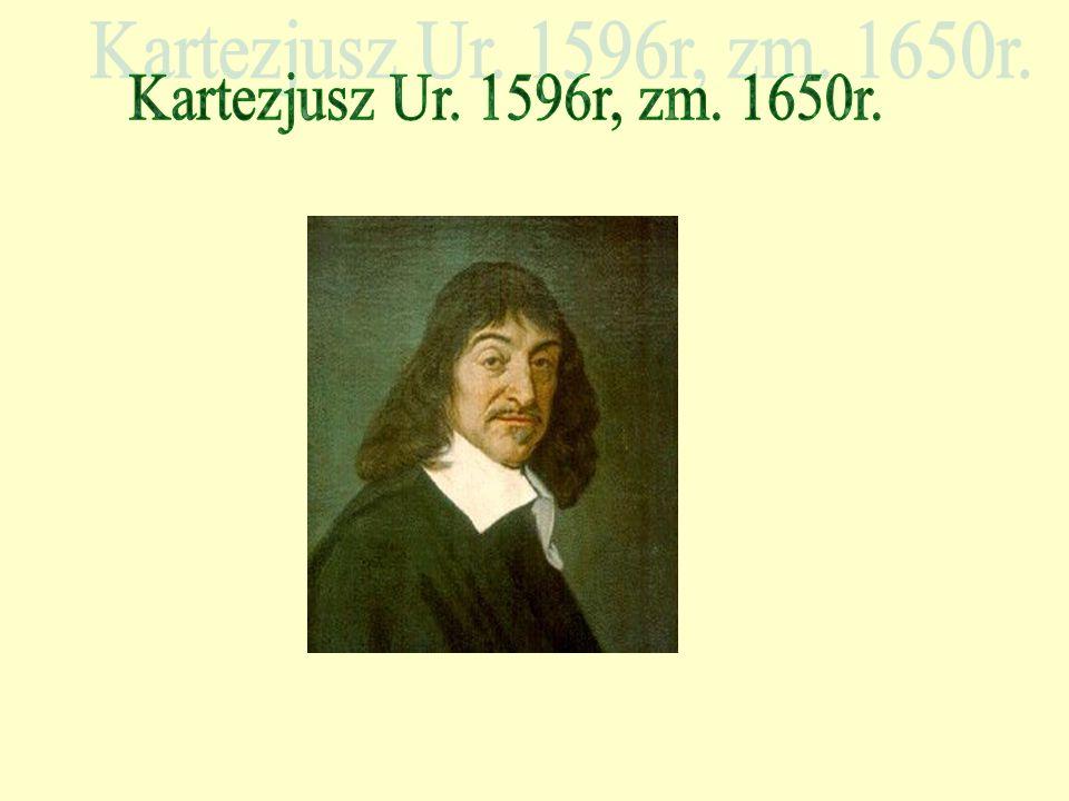 Kartezjusz Ur. 1596r, zm. 1650r.