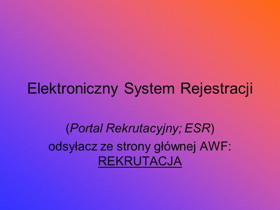 Elektroniczny System Rejestracji