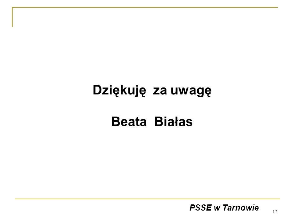Dziękuję za uwagę Beata Białas
