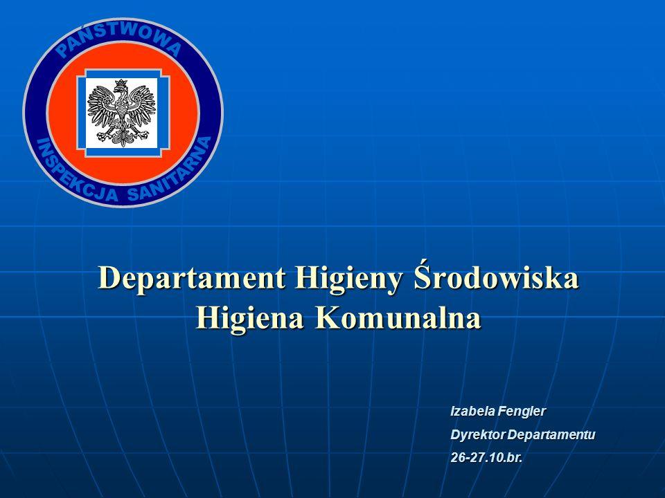 Departament Higieny Środowiska Higiena Komunalna