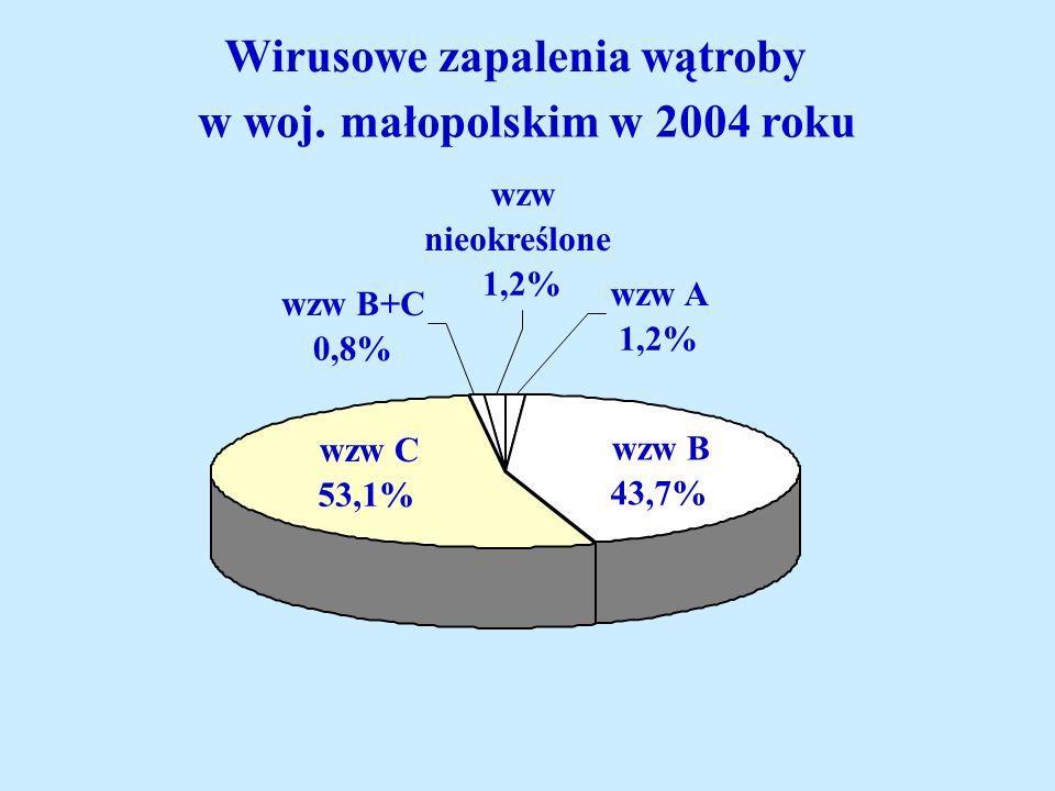 Wirusowe zapalenia wątroby w woj. małopolskim w 2004 roku