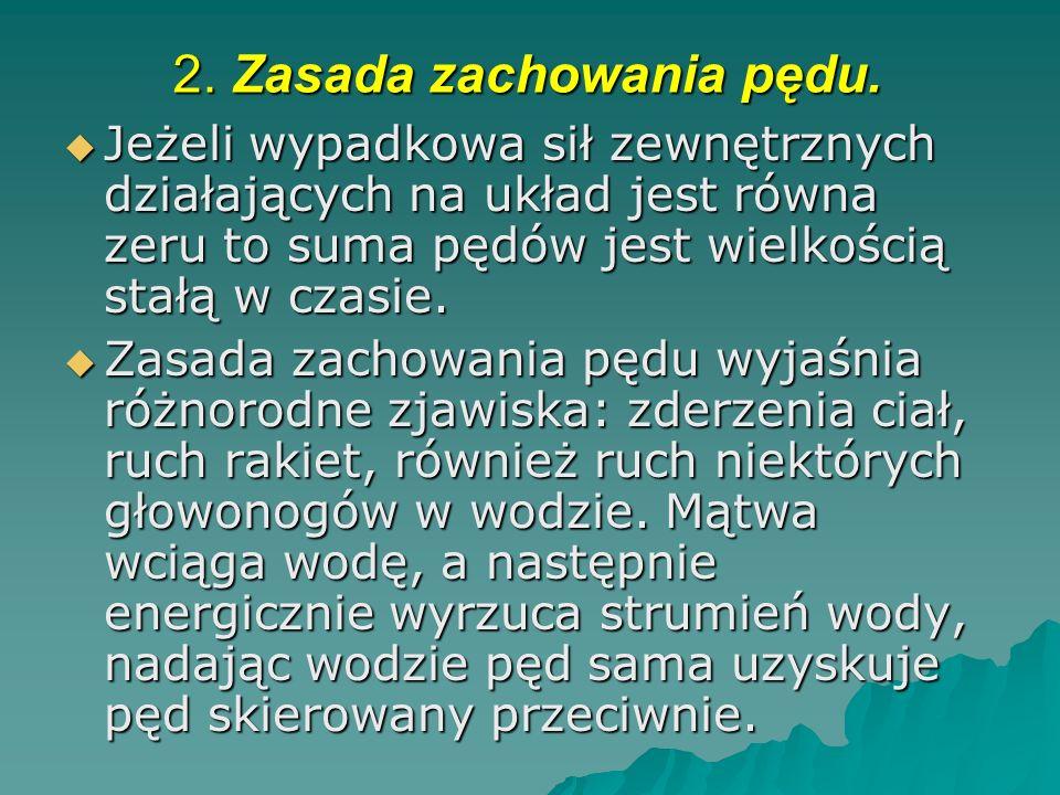 2. Zasada zachowania pędu.