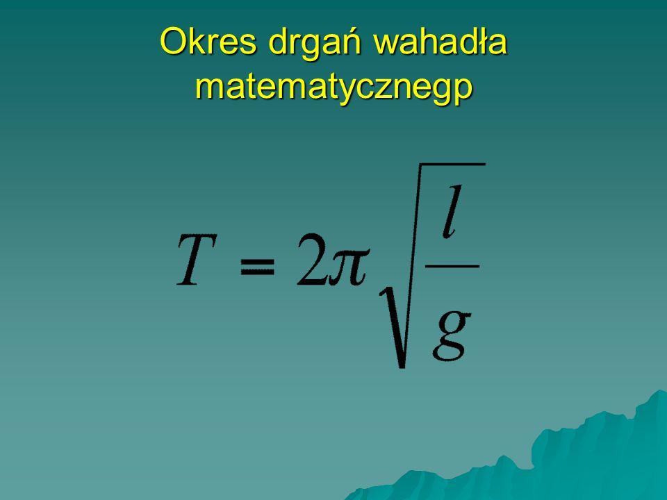Okres drgań wahadła matematycznegp
