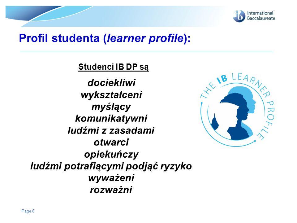 Profil studenta (learner profile): Studenci IB DP są