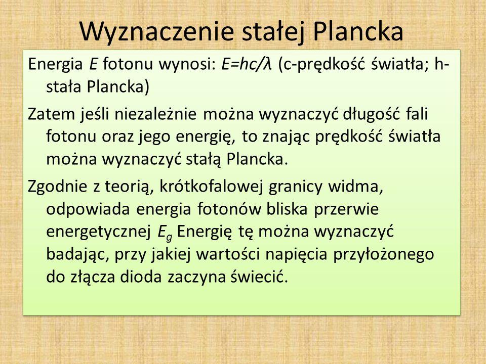 Wyznaczenie stałej Plancka
