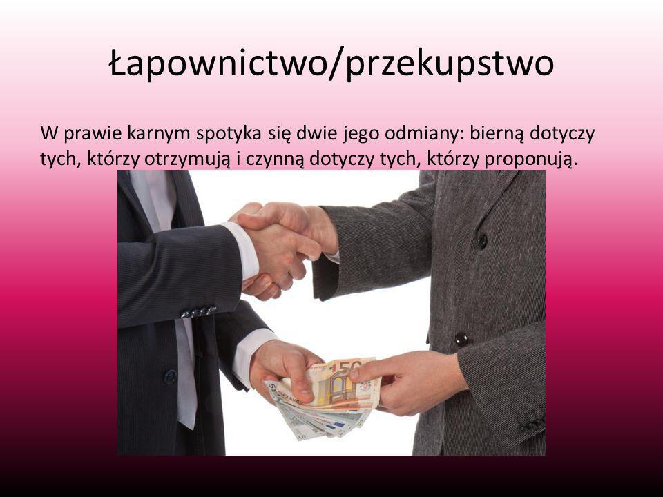 Łapownictwo/przekupstwo