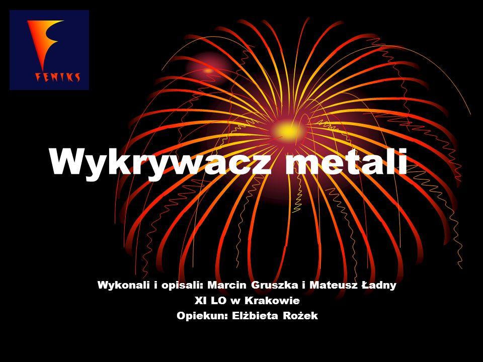 Wykrywacz metali Wykonali i opisali: Marcin Gruszka i Mateusz Ładny