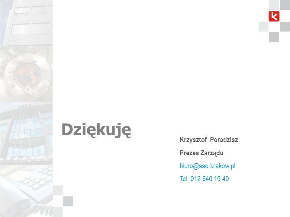Dziękuję Krzysztof Poradzisz Prezes Zarządu biuro@sse.krakow.pl