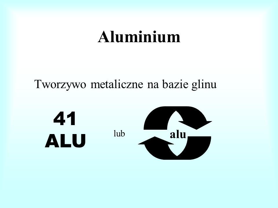 Aluminium Tworzywo metaliczne na bazie glinu 41 ALU lub alu