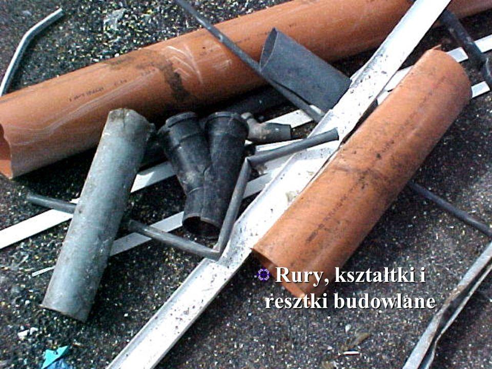 Rury, kształtki i resztki budowlane