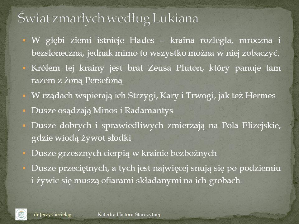 Świat zmarłych według Lukiana