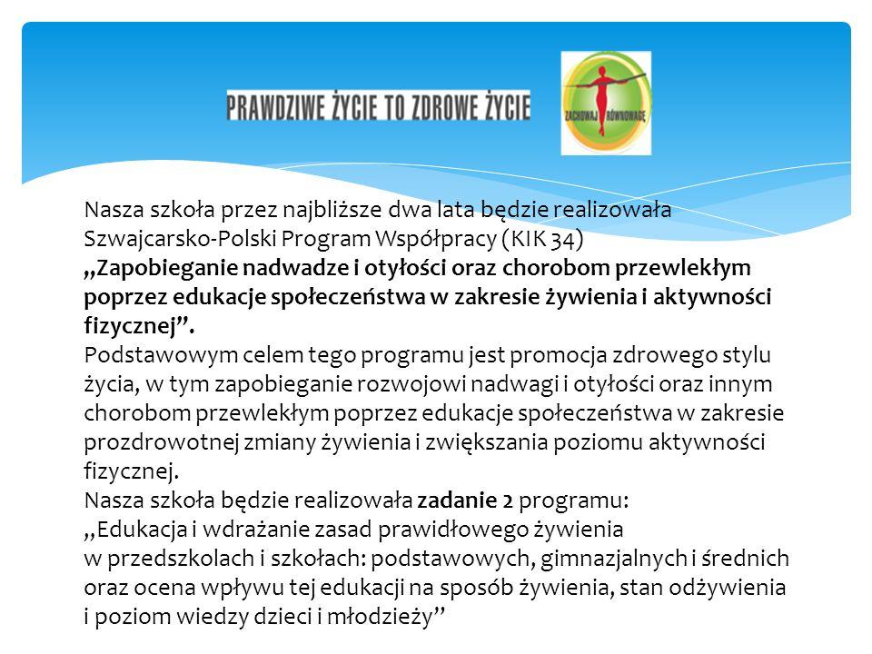 Nasza szkoła przez najbliższe dwa lata będzie realizowała Szwajcarsko-Polski Program Współpracy (KIK 34)