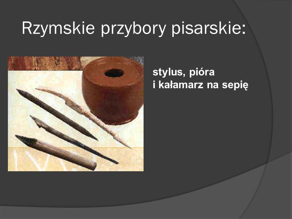 Rzymskie przybory pisarskie: