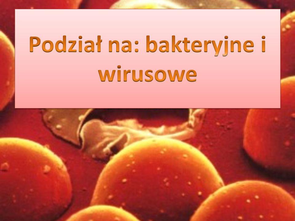 Podział na: bakteryjne i wirusowe