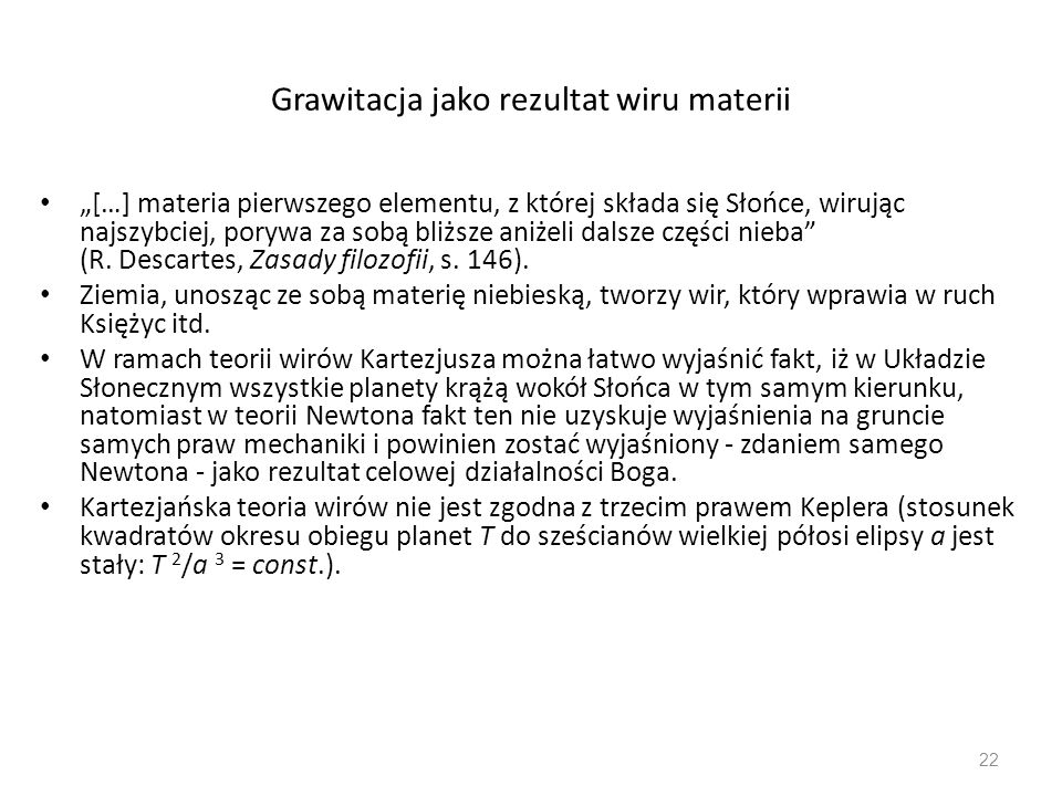 Grawitacja jako rezultat wiru materii