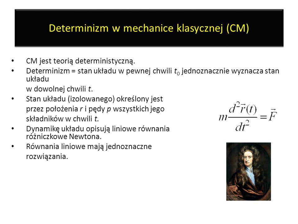 Determinizm w mechanice klasycznej (CM)