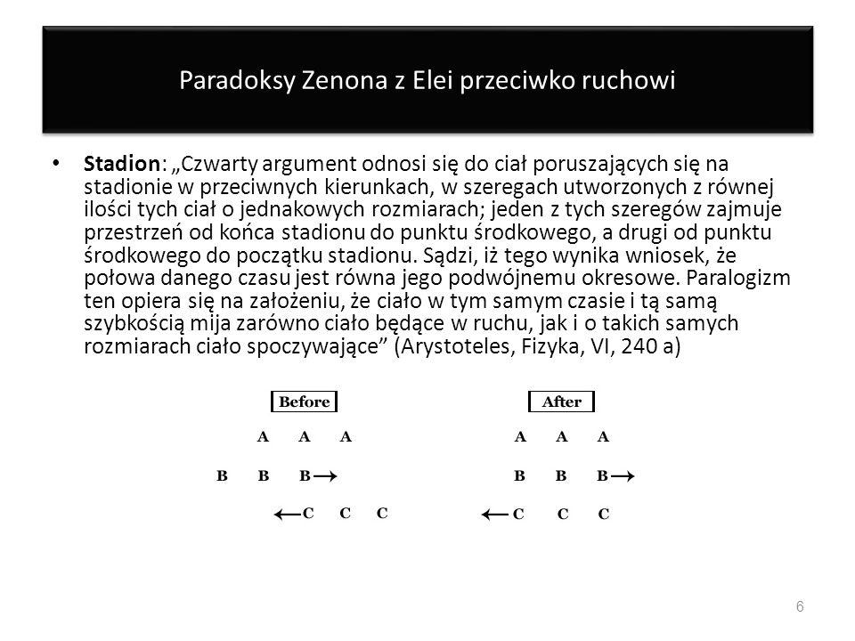 Paradoksy Zenona z Elei przeciwko ruchowi
