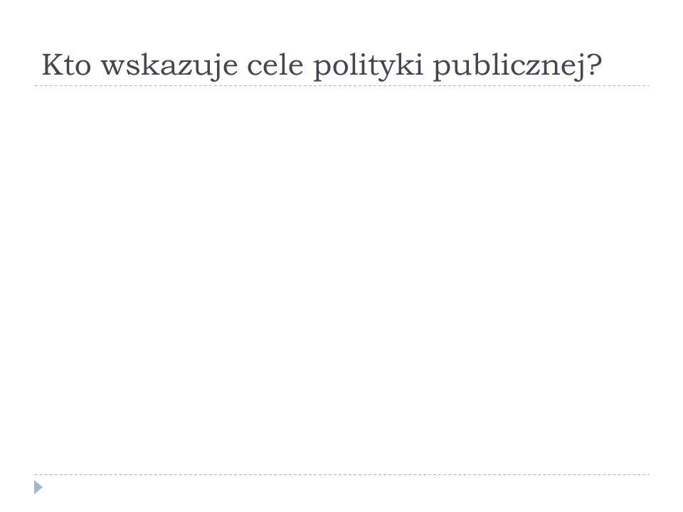 Kto wskazuje cele polityki publicznej