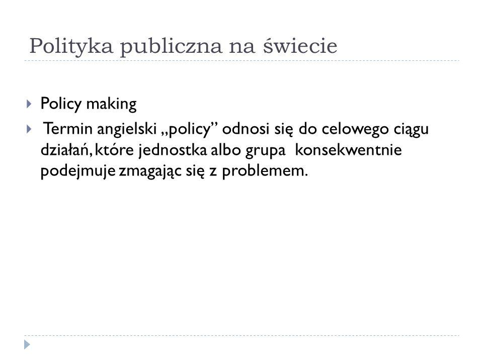 Polityka publiczna na świecie