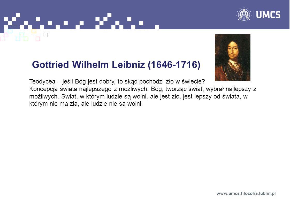 Gottried Wilhelm Leibniz (1646-1716)