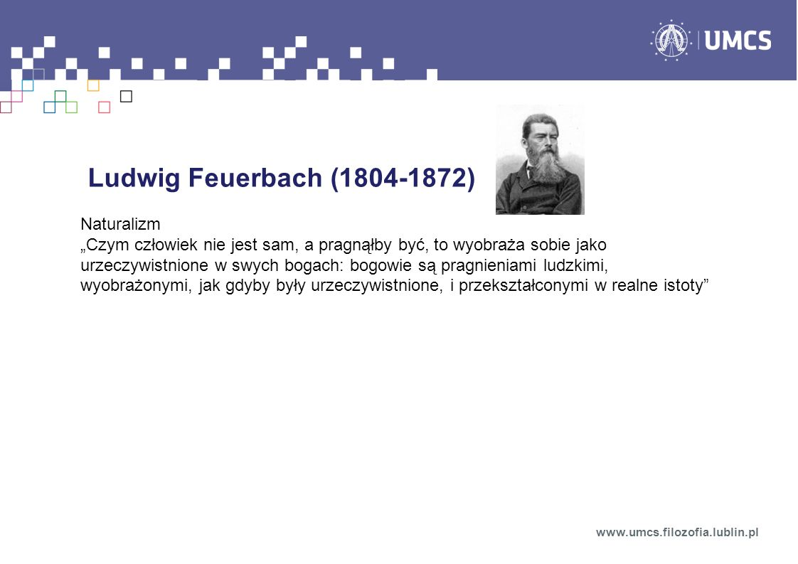 Ludwig Feuerbach (1804-1872) Naturalizm