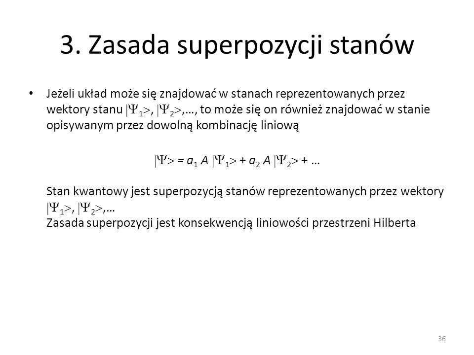 3. Zasada superpozycji stanów