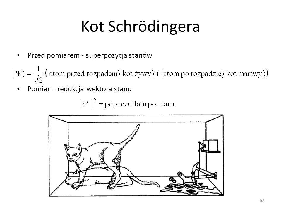 Kot Schrödingera Przed pomiarem - superpozycja stanów