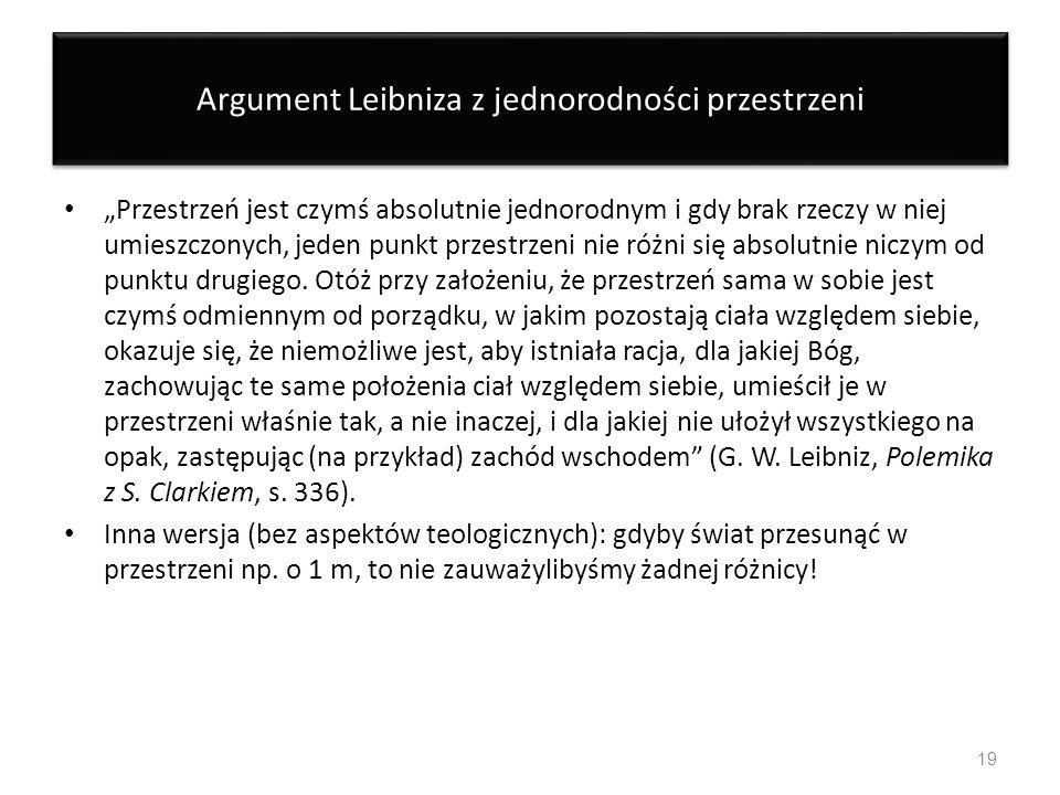 Argument Leibniza z jednorodności przestrzeni