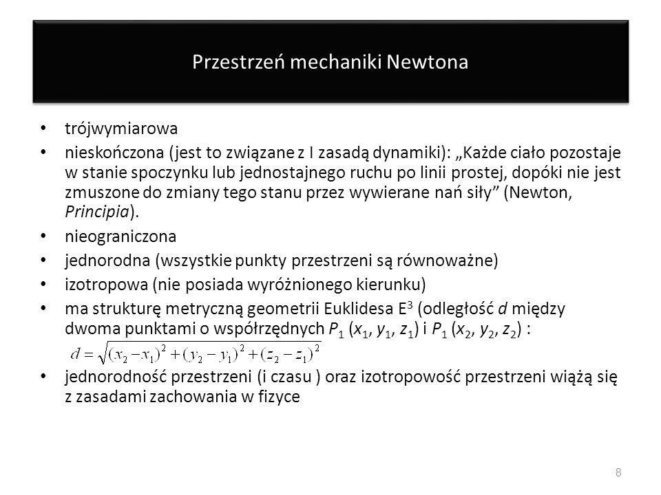 Przestrzeń mechaniki Newtona