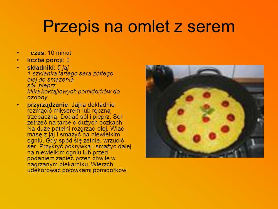 Przepis na omlet z serem