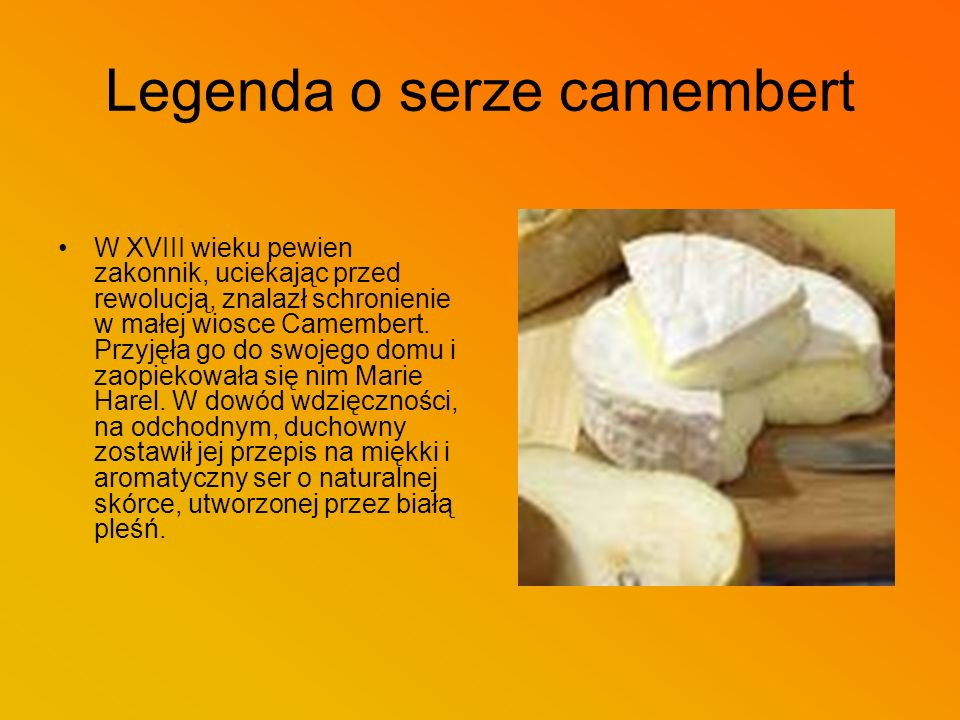 Legenda o serze camembert