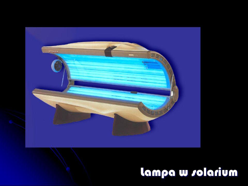 Lampa w solarium