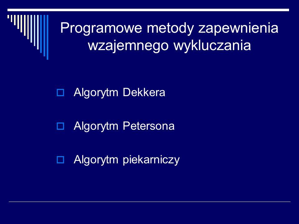 Programowe metody zapewnienia wzajemnego wykluczania