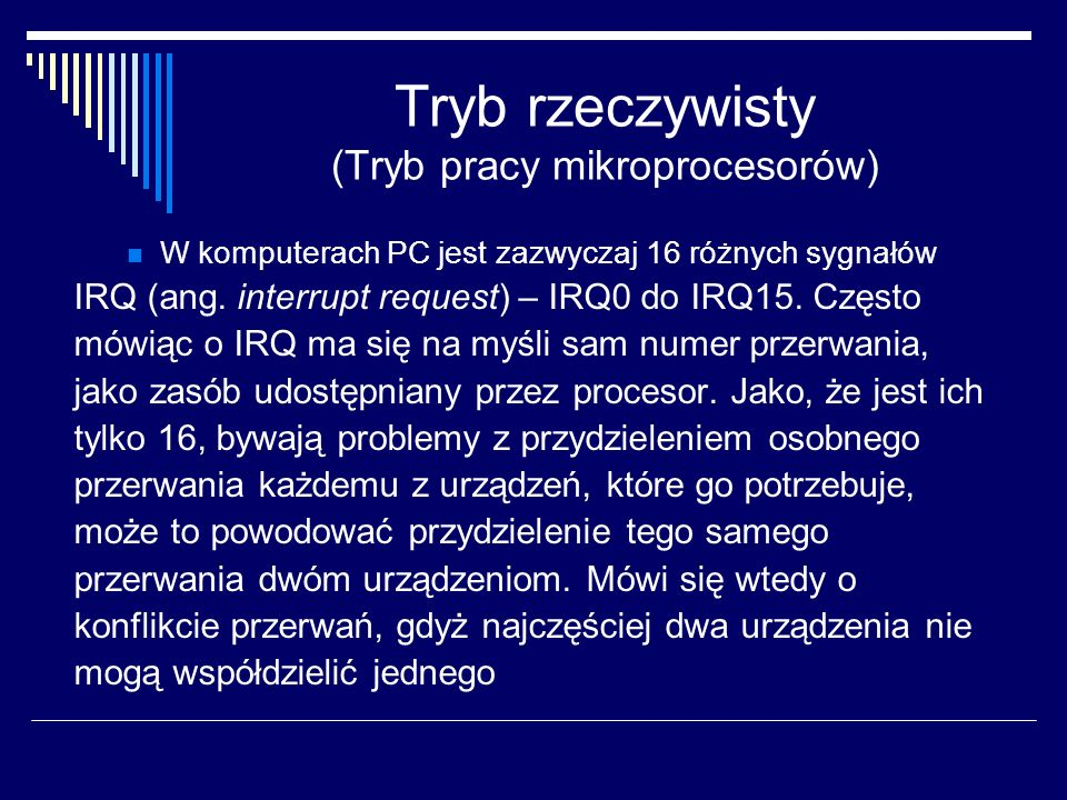 Tryb rzeczywisty (Tryb pracy mikroprocesorów)