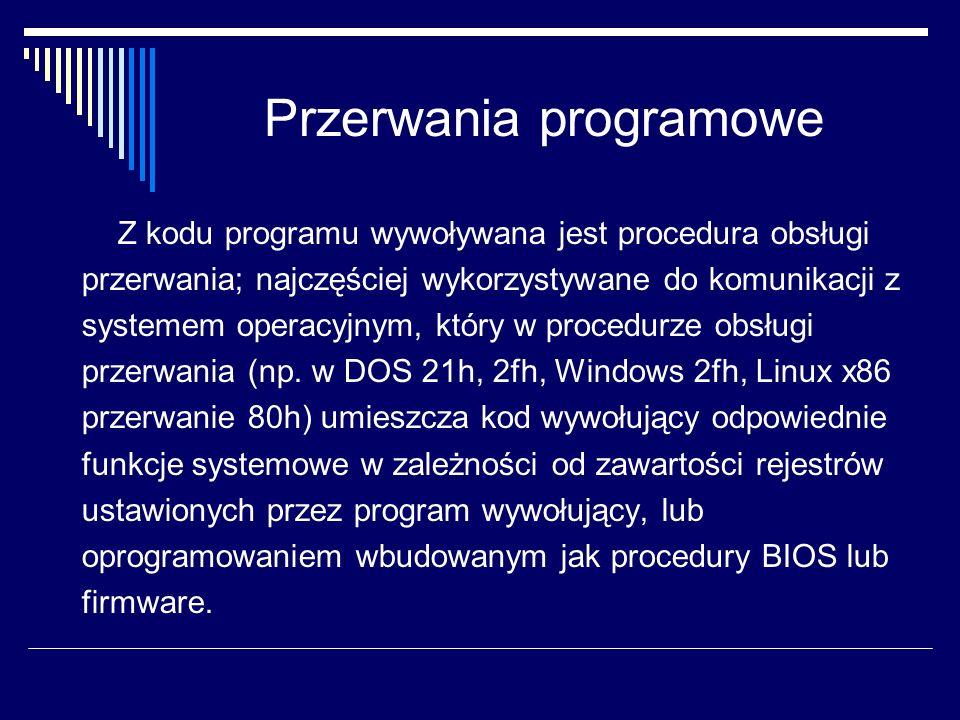 Przerwania programowe