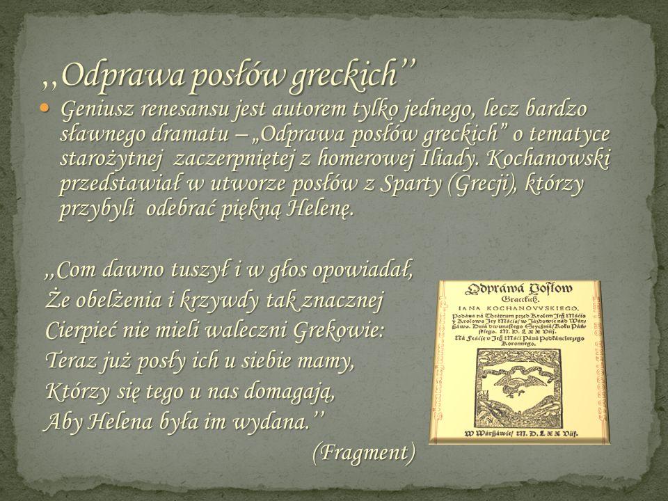,,Odprawa posłów greckich''