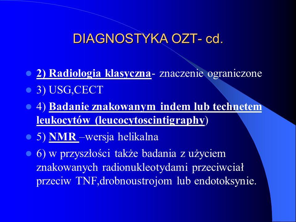 DIAGNOSTYKA OZT- cd. 2) Radiologia klasyczna- znaczenie ograniczone