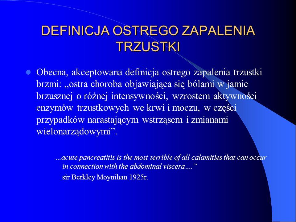 DEFINICJA OSTREGO ZAPALENIA TRZUSTKI