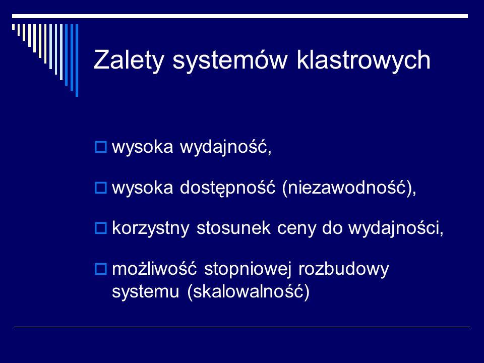 Zalety systemów klastrowych