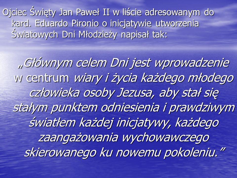 Ojciec Święty Jan Paweł II w liście adresowanym do kard