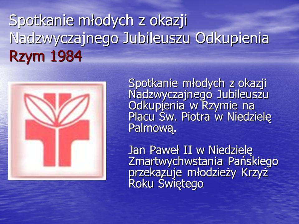 Spotkanie młodych z okazji Nadzwyczajnego Jubileuszu Odkupienia Rzym 1984