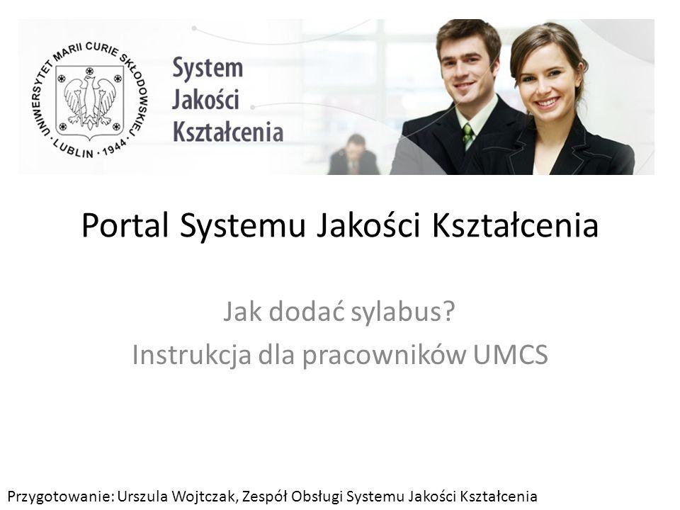 Portal Systemu Jakości Kształcenia